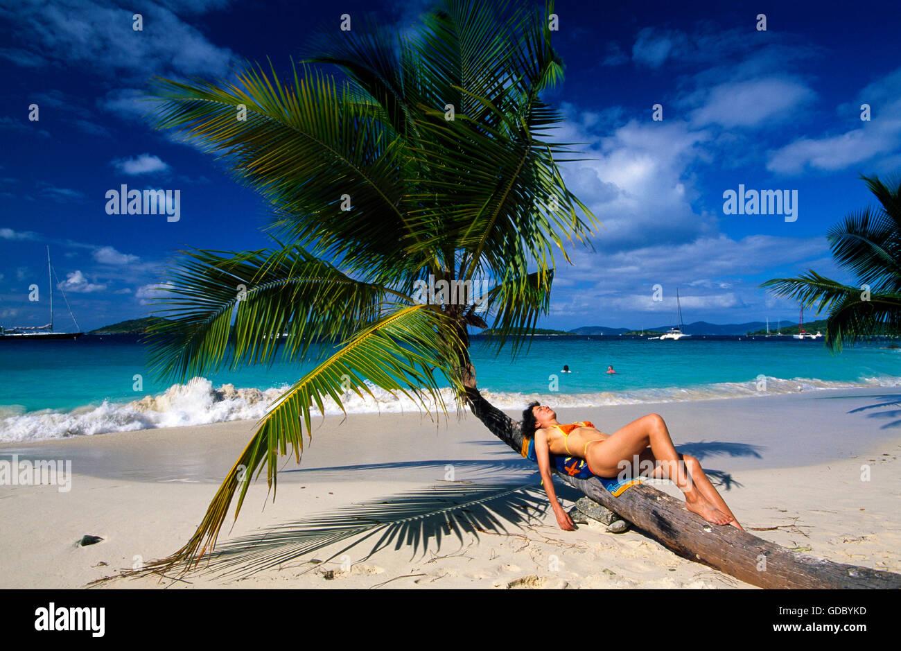 Solomon Bay, St.John Island, US Virgin Islands, Caribbean ...
