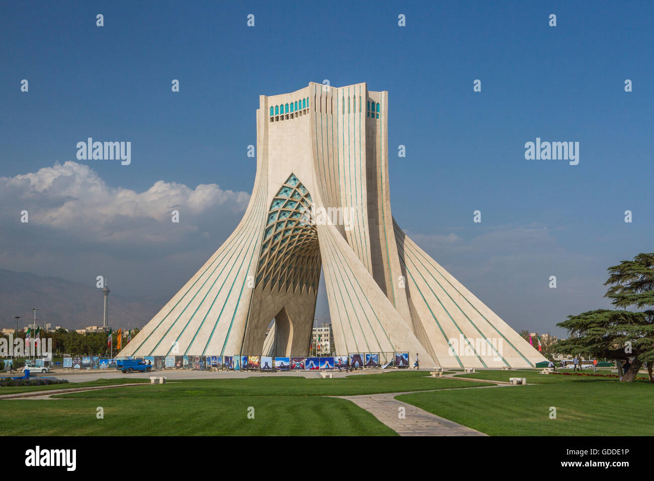 Iran,Teheran City,Azadi Tower (Borj-e Azadi),Milad Tower Stock ...
