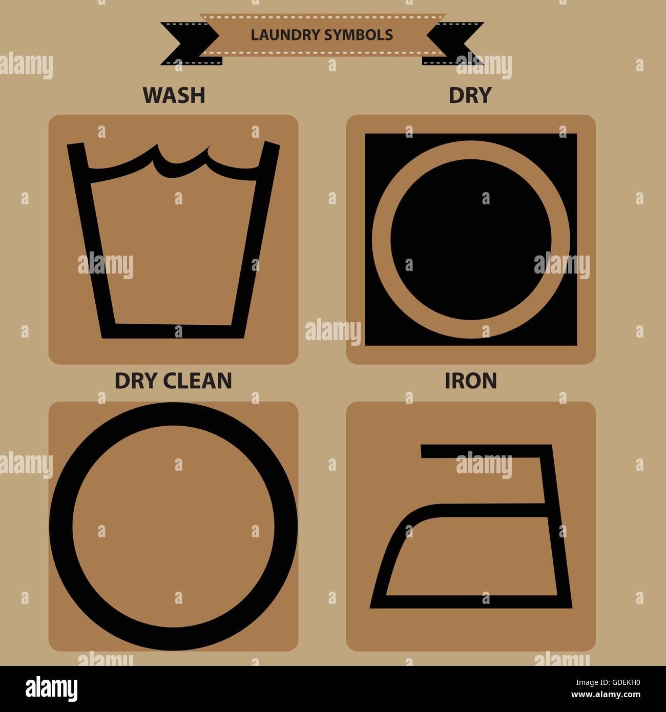 Set of laundry symbols wash dry iron dry clean flat vector set of laundry symbols wash dry iron dry clean flat vector illustration buycottarizona