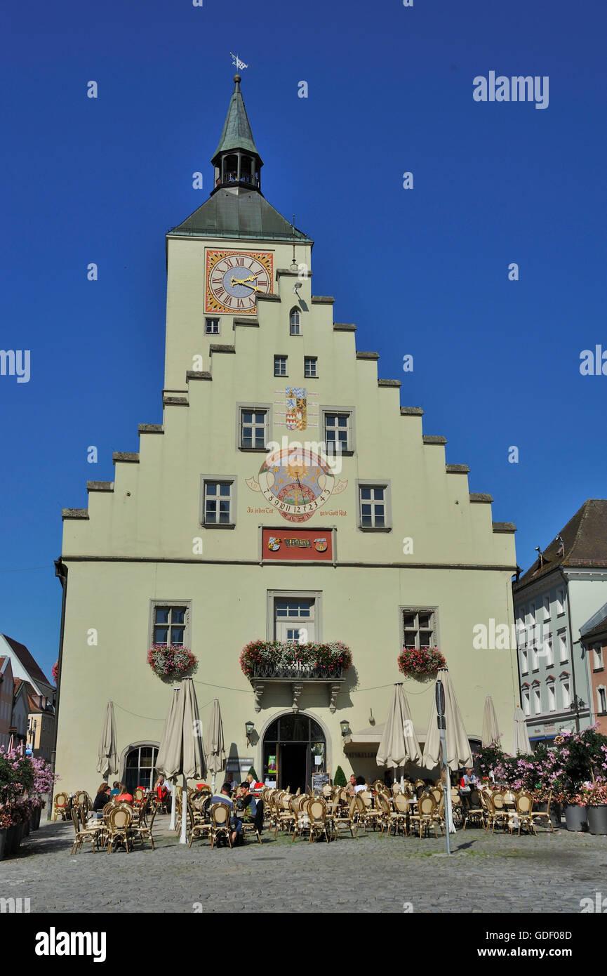 Old town hall deggendorf bavaria germany stock photo royalty free image 111582253 alamy - Mobel in deggendorf ...