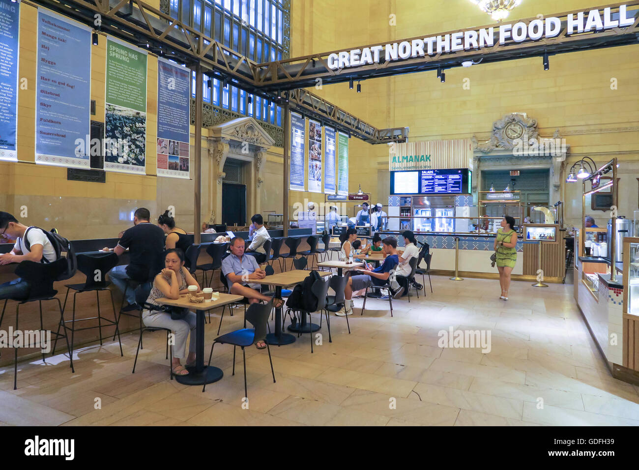 Great Northern Food Hall great northern food hall in grand central terminal, nyc, usa stock