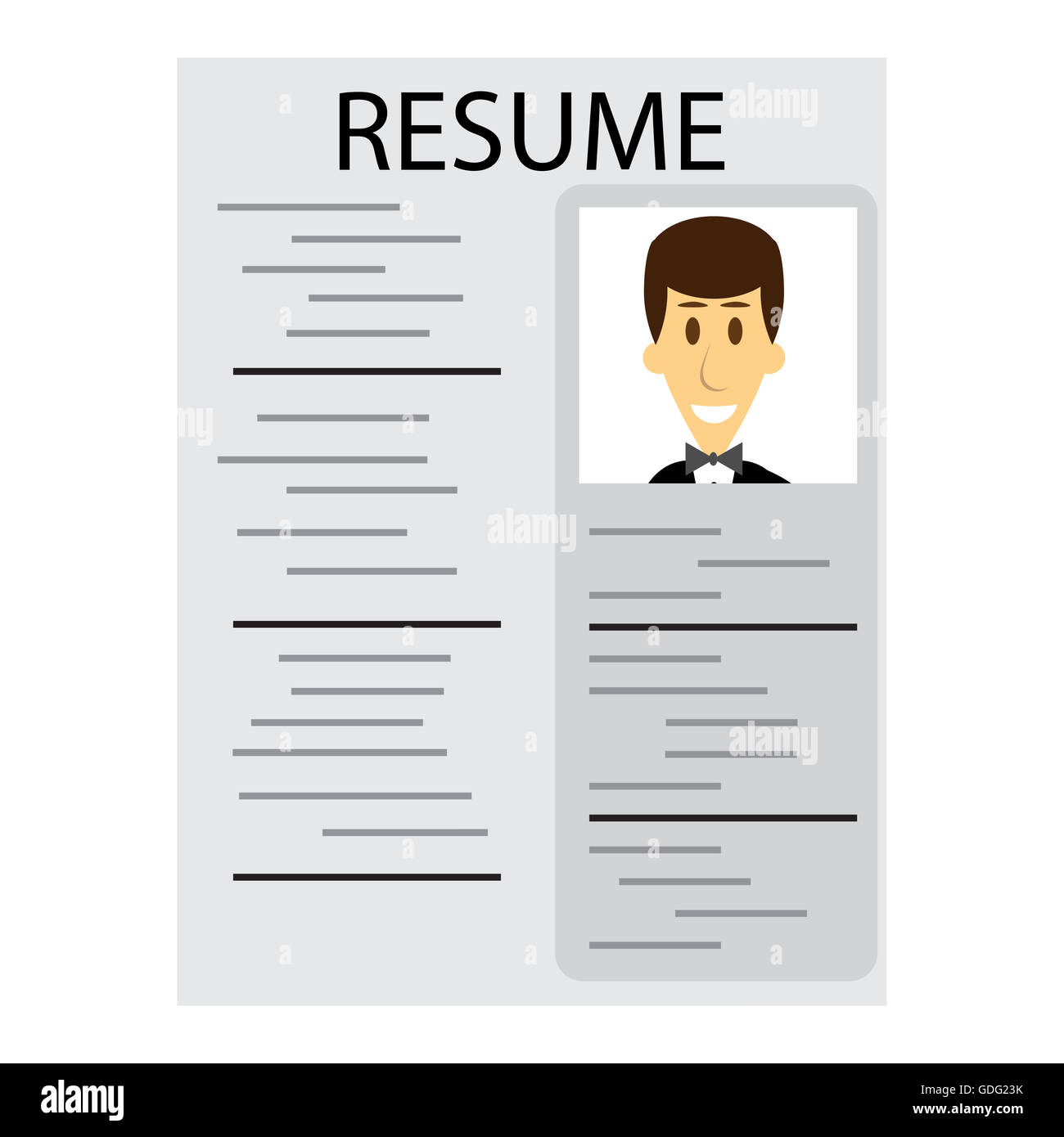 Resume for employment. Cv and resume template, job interview and ...