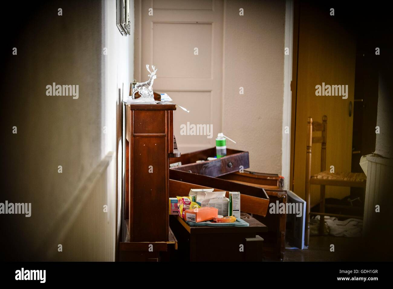 inside front door apartment. A View Inside The Flat Through Front Door Keyhole Of Apartment Where Mohamed Lahouaiej Bouhlel Lived At 62 Route De Turin, Nice I
