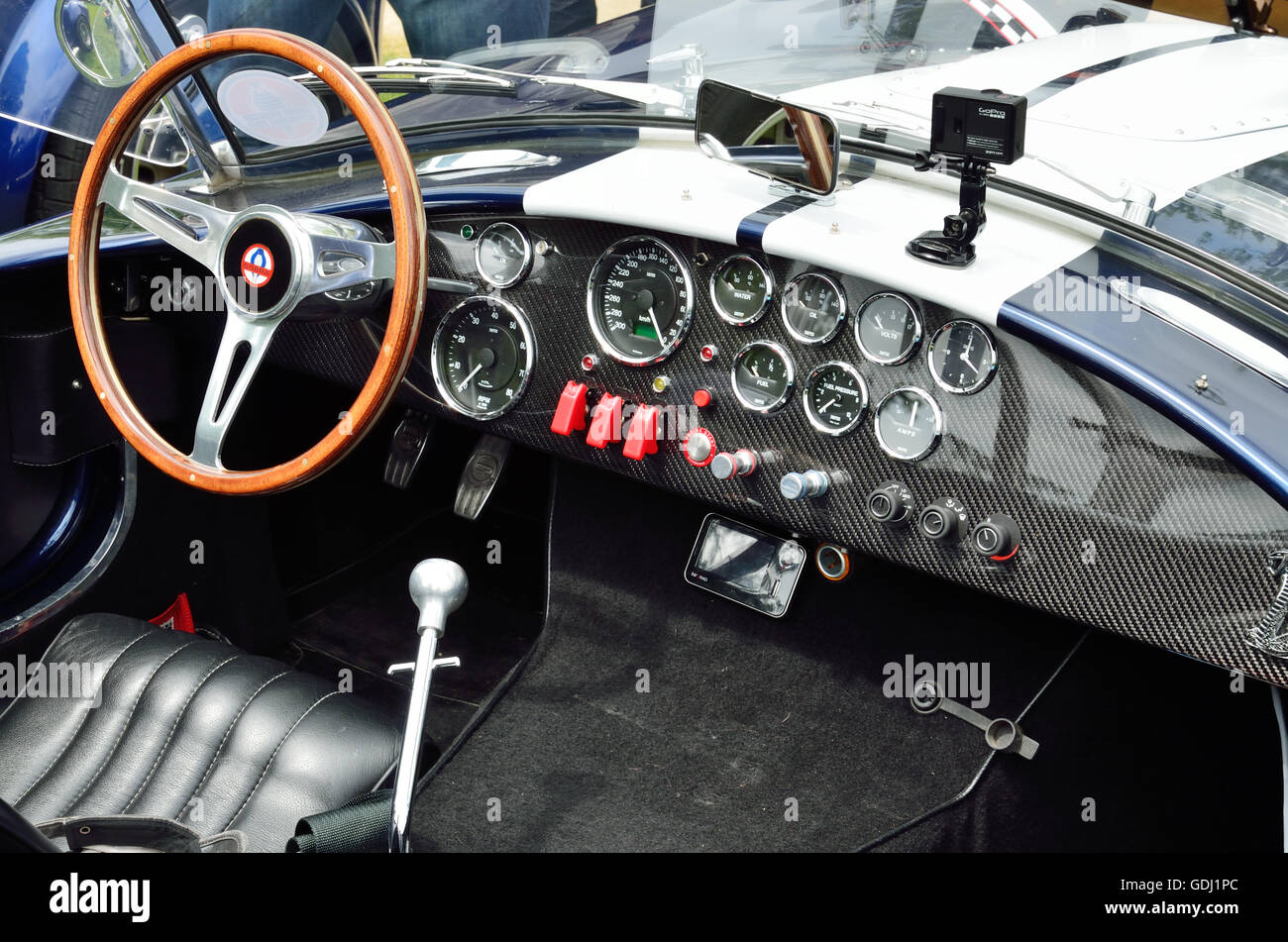 interior of the race vintage car the inner space of the stock photo royalty free image. Black Bedroom Furniture Sets. Home Design Ideas