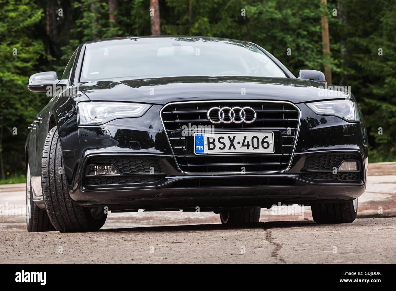 Kotka Finland July Black Facelift Audi A TDI - Audi latest model 2016