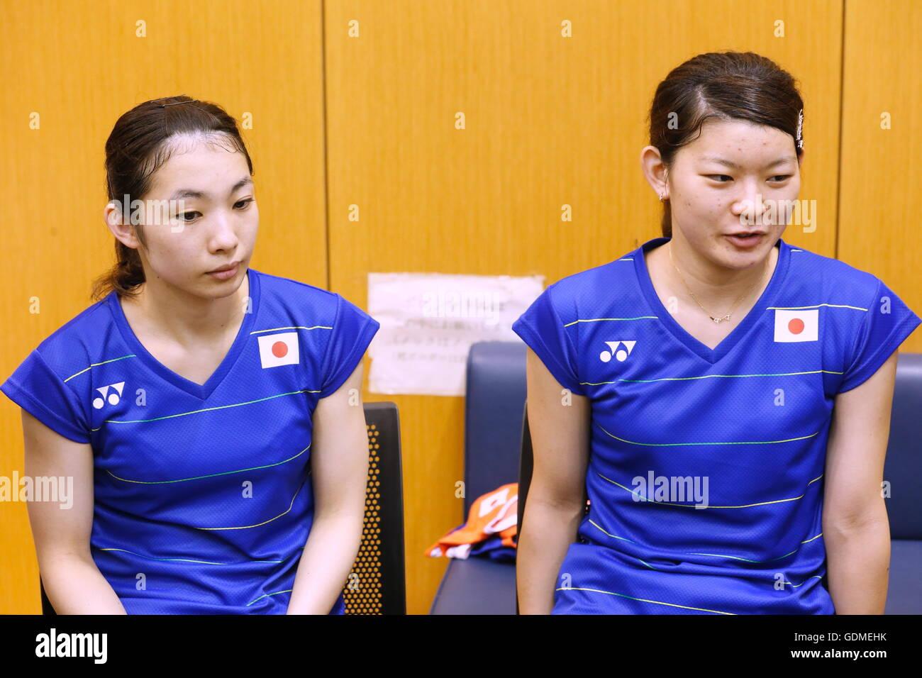Tokyo Japan 19th July 2016 Ayaka Takahashi & Misaki Matsutomo