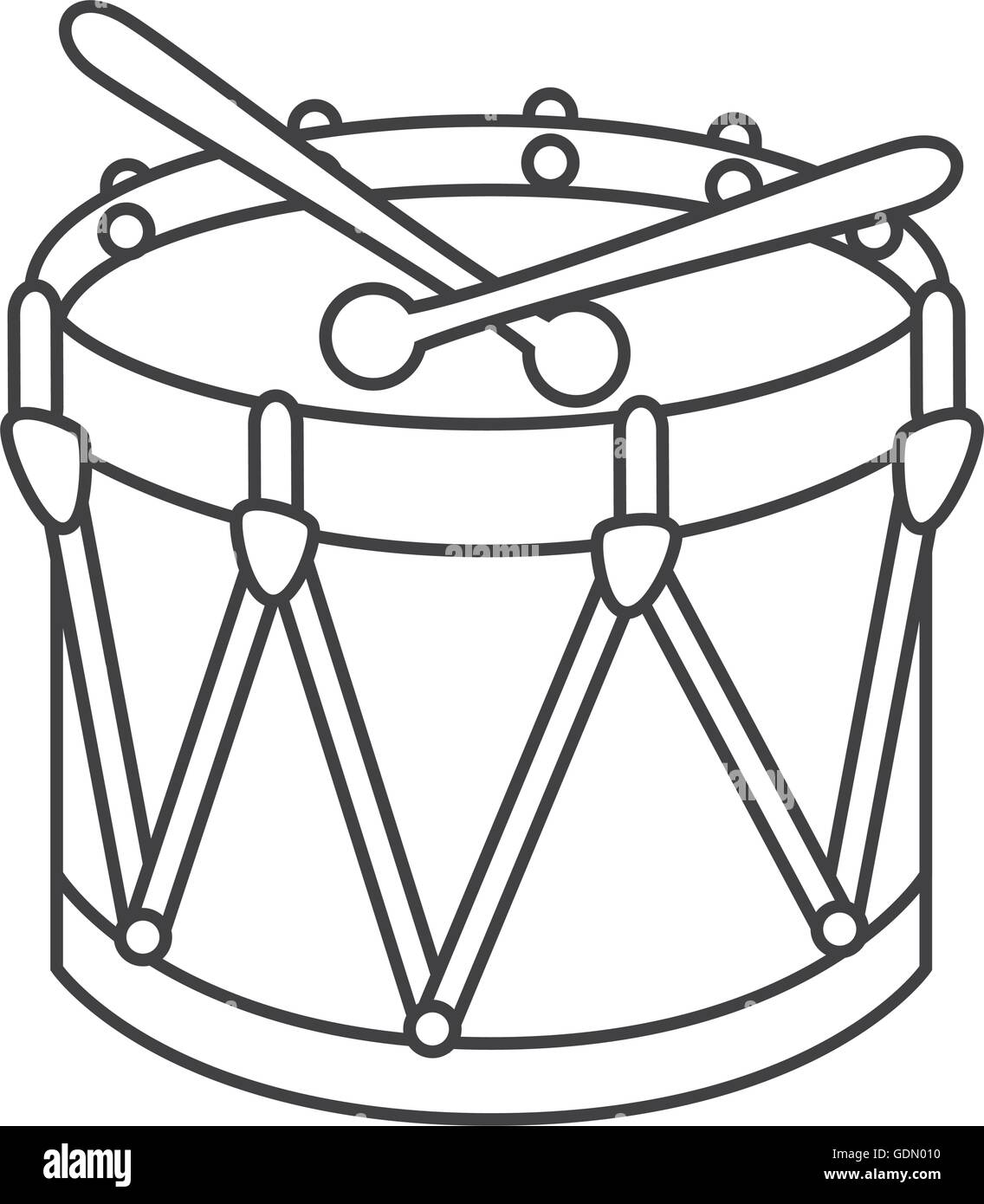 Drum Kit Toy Icon Vector Illustration