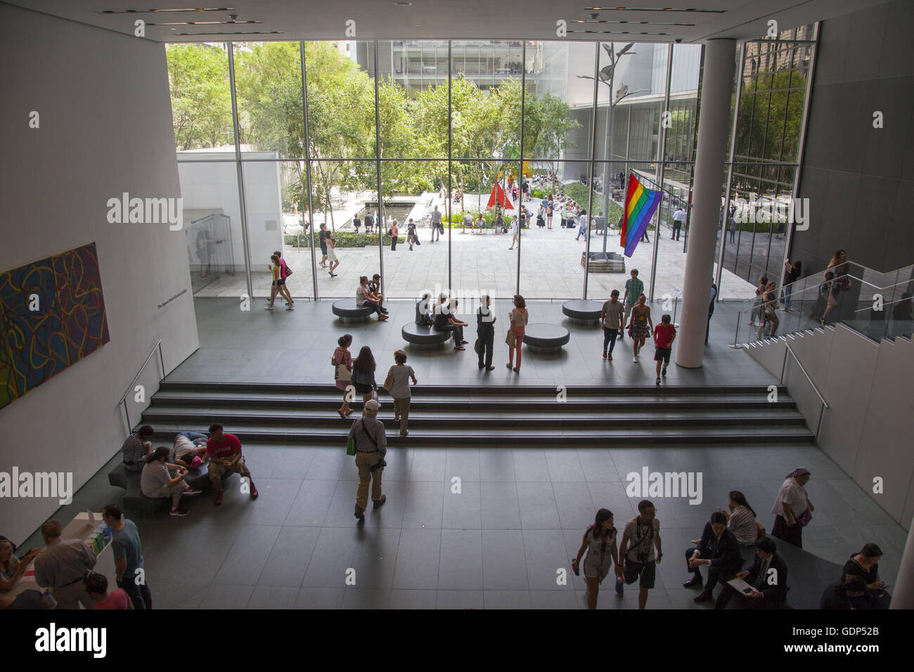 Foyer Museum York : Museum of modern art moma new york city entry hall