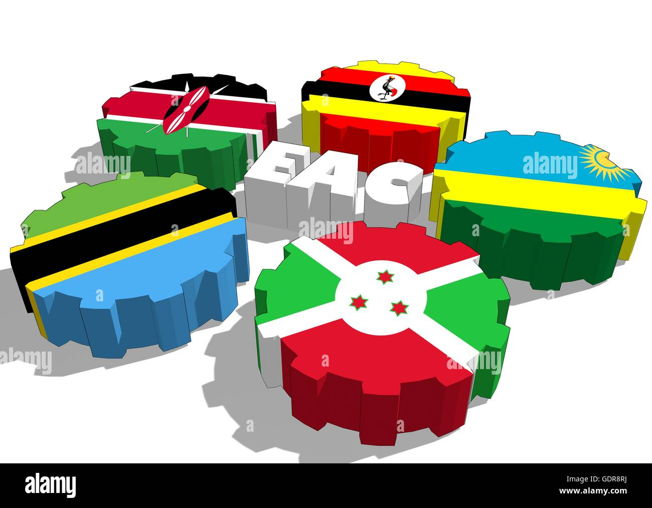 east african community 3 the east african community • comprises the republics of kenya, uganda and the united republic of tanzania • total combined area 18 million square kilometers.