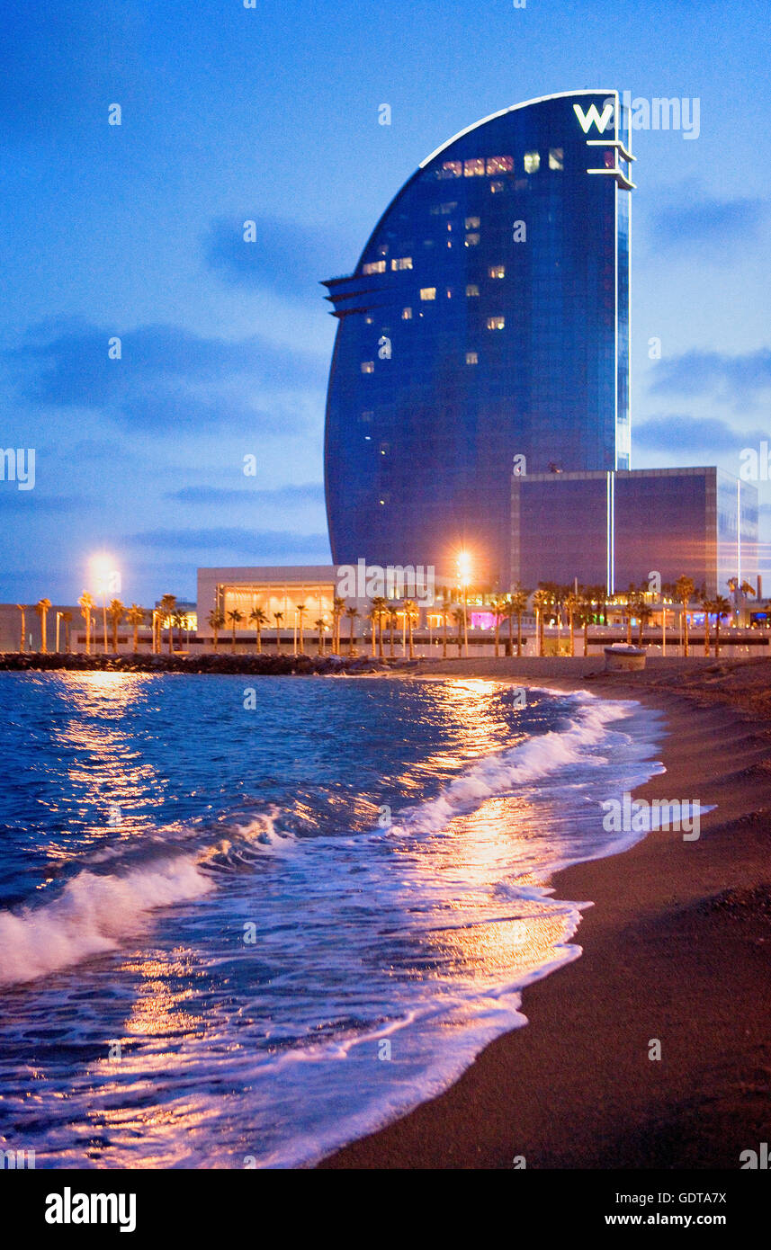 Hotel w barcelona hotel vela by ricardo bofill for Hotel barcelona w