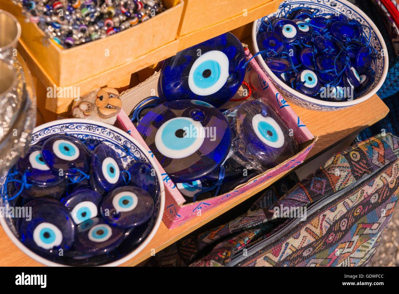 Evil eye stock photos evil eye stock images alamy israel jerusalem old city armenian district souvenir shop store pendants of protection against evil eye biocorpaavc