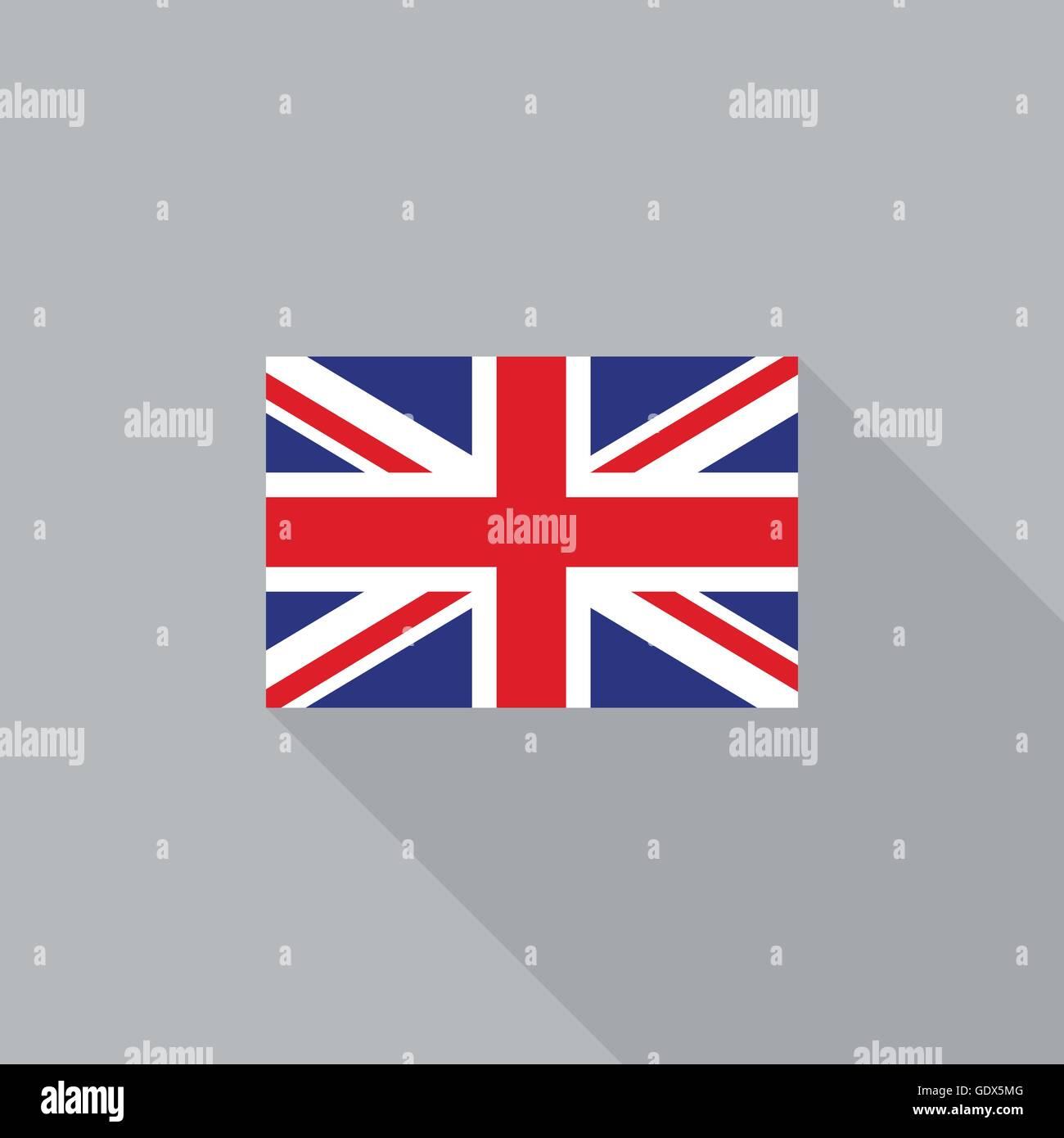 uk england flag flat design vector illustration stock vector art