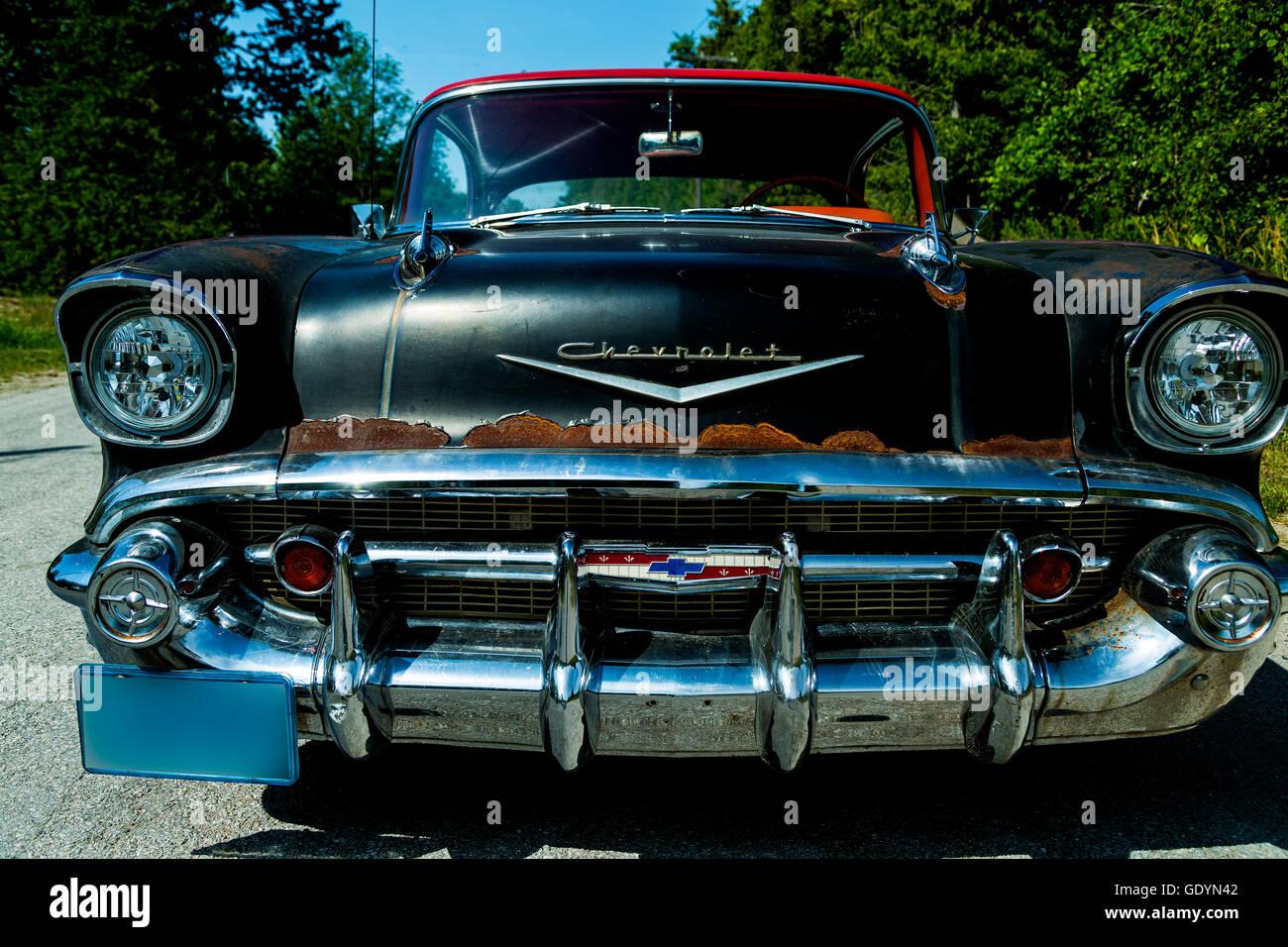 1957 chevrolet bel air 4 door hard top rat rod stock photo for 1957 chevy bel air 4 door