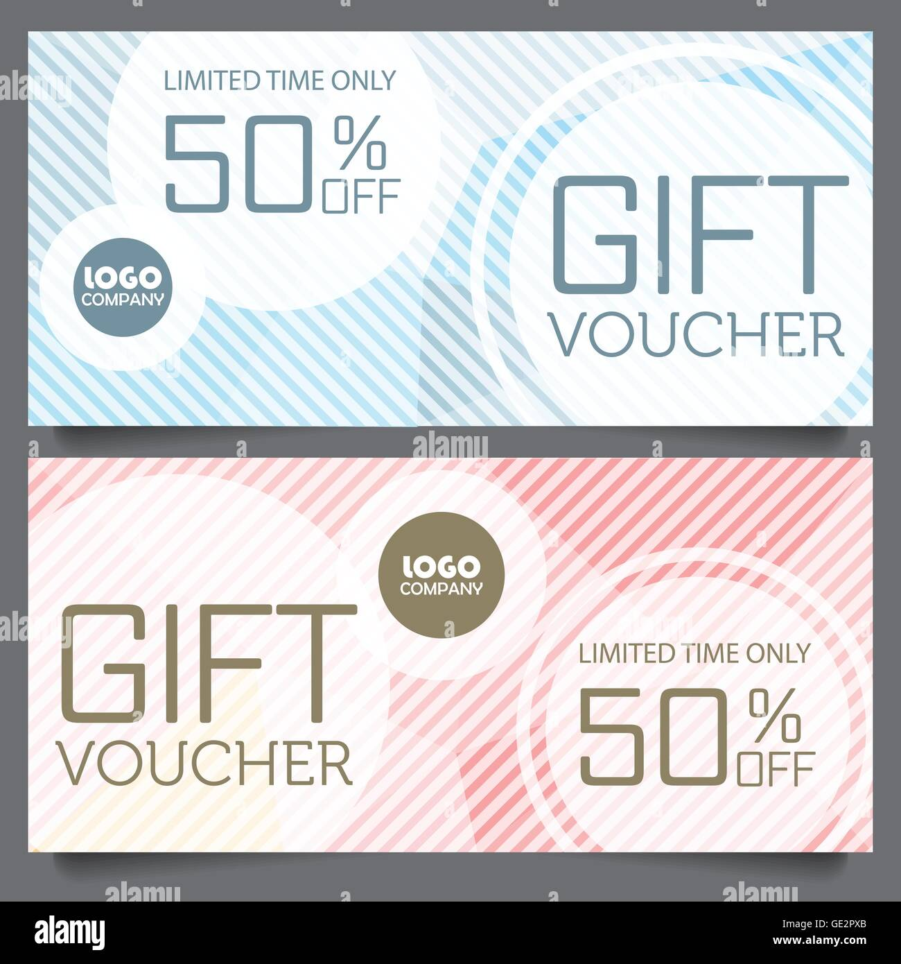 Gift Voucher Certificate Coupon Template, Cute And Modern Style Design For  Girl And Woman. Can Be Use For Business Shopping Card  Business Coupon Template