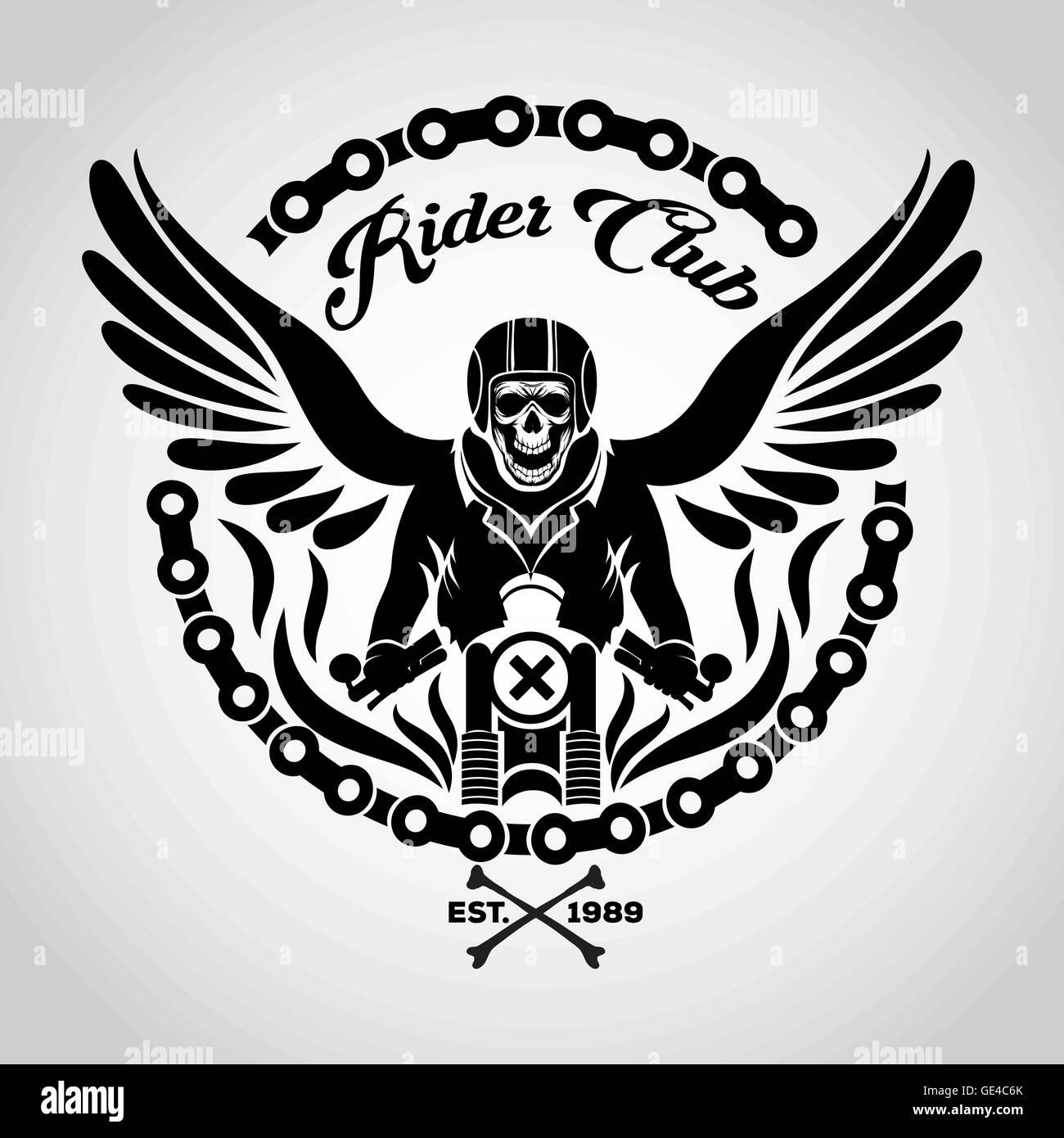bikers skull logo - photo #1