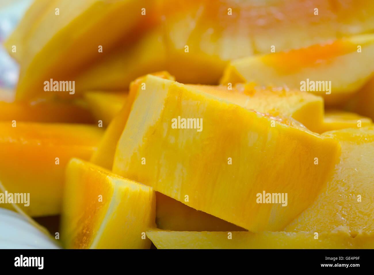 Beautiful Nicely Cut Yellow Mango