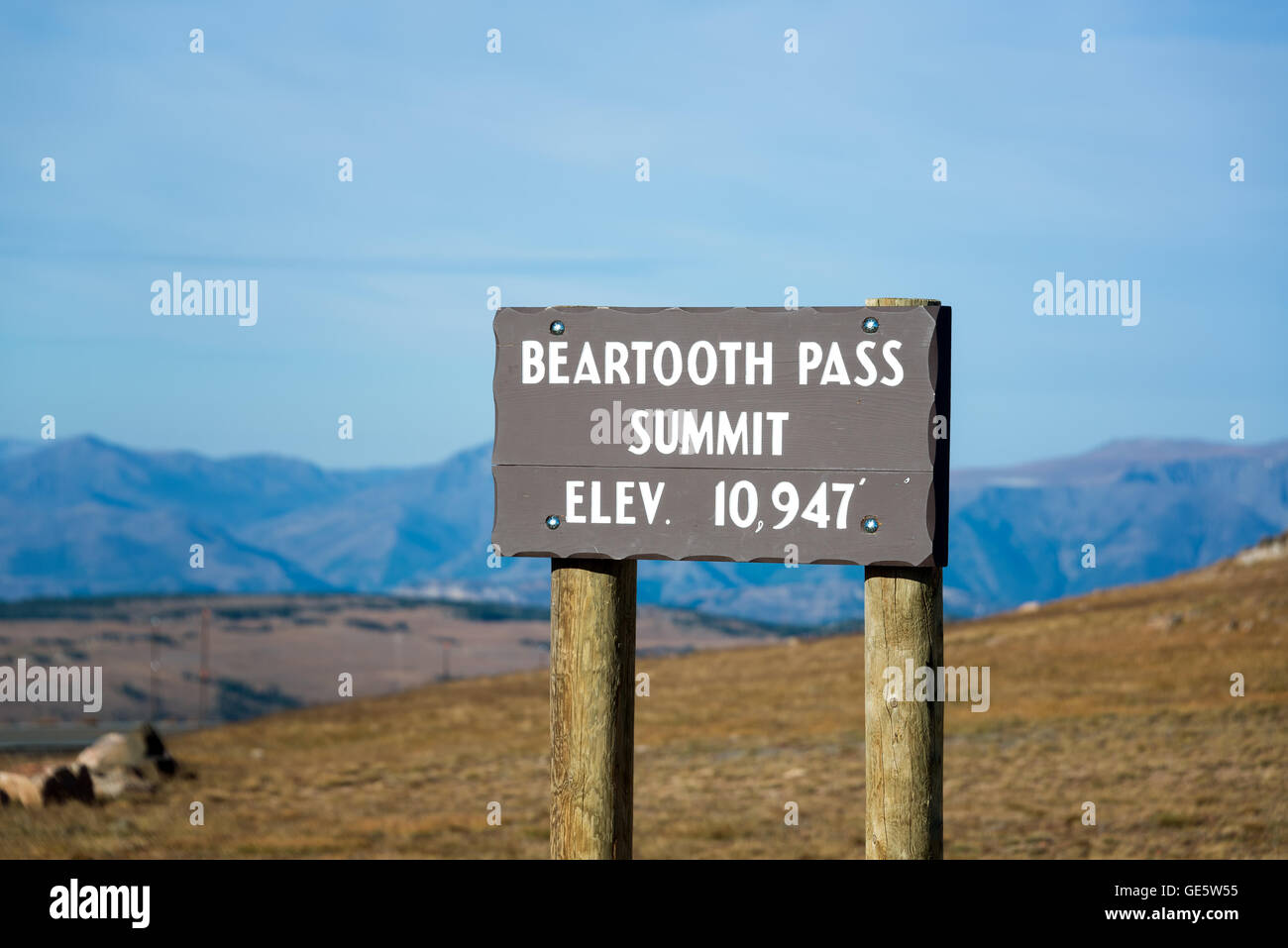 View Of The Beartooth Pass Summit At An Elevation Of Feet - Elevation in feet above sea level