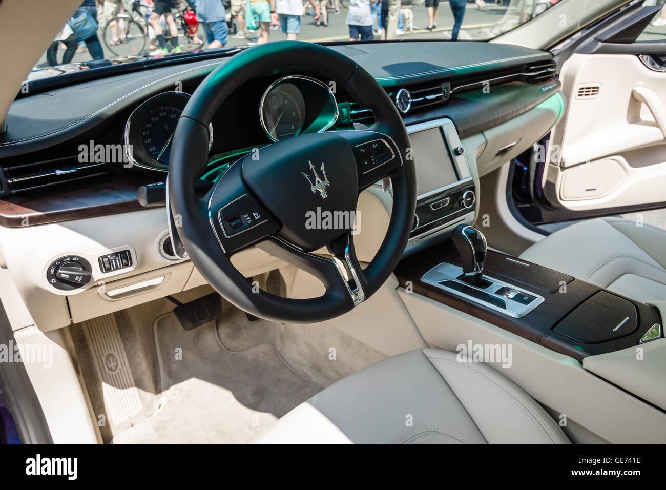 berlin june 05 2016 interior of full size luxury car maserati stock photo royalty free. Black Bedroom Furniture Sets. Home Design Ideas