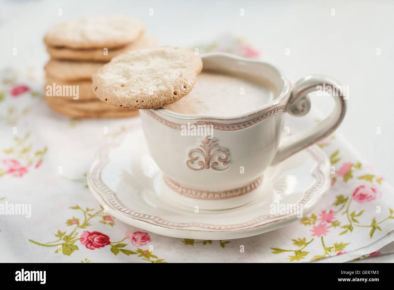 Vintage kitchenware - Stock Photo Flat Almond Biscuits Vintage Kitchenware In The Style Of Provence