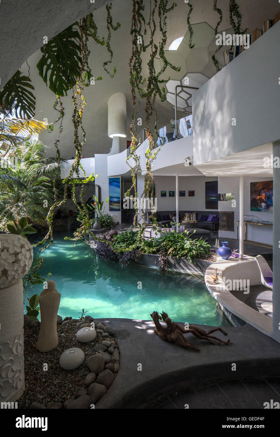Pool balcony eco dome peka peka new zealand architect for Pool design new zealand