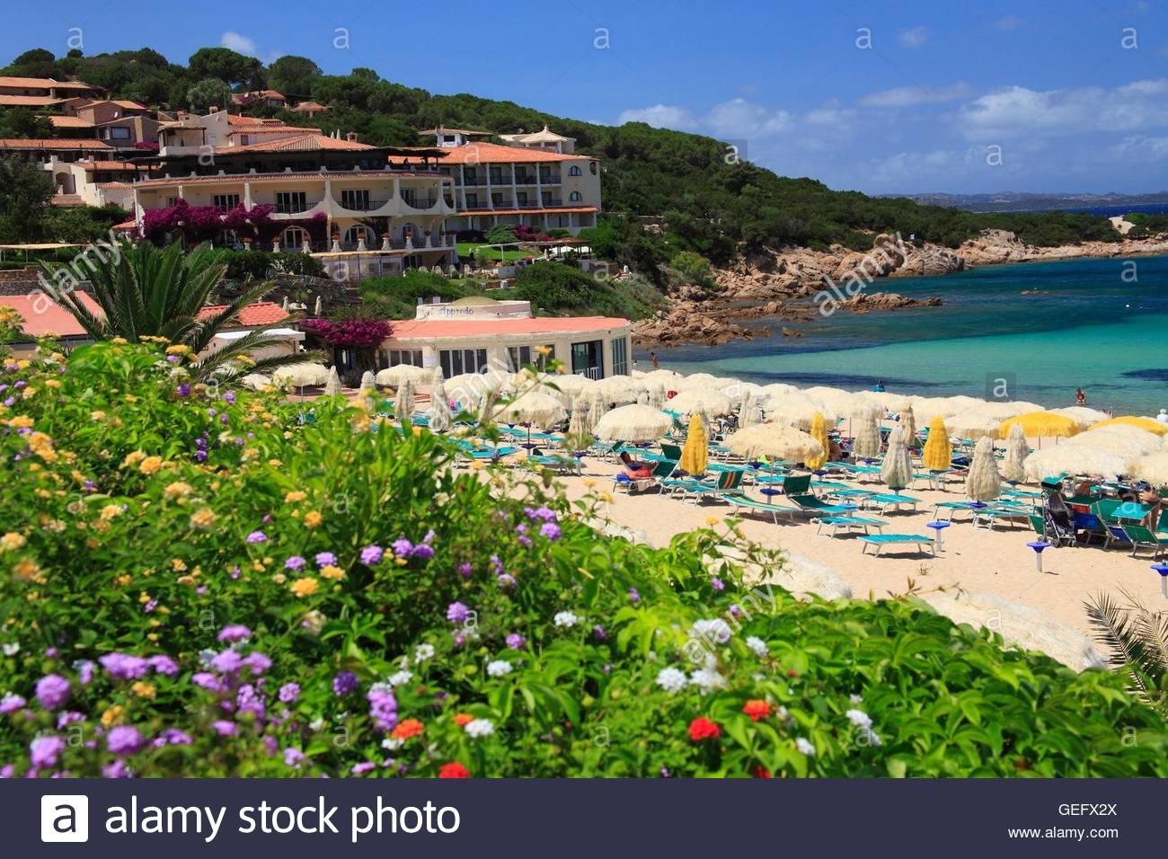 Baia Sardinia at the Costa Smeralda, Sardinia Stock Photo, Royalty ...