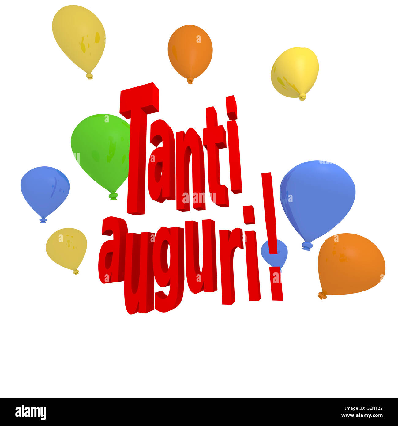 "Favoloso Italian congratulation concept image, ""Tanti auguri"" with colorful  AE42"