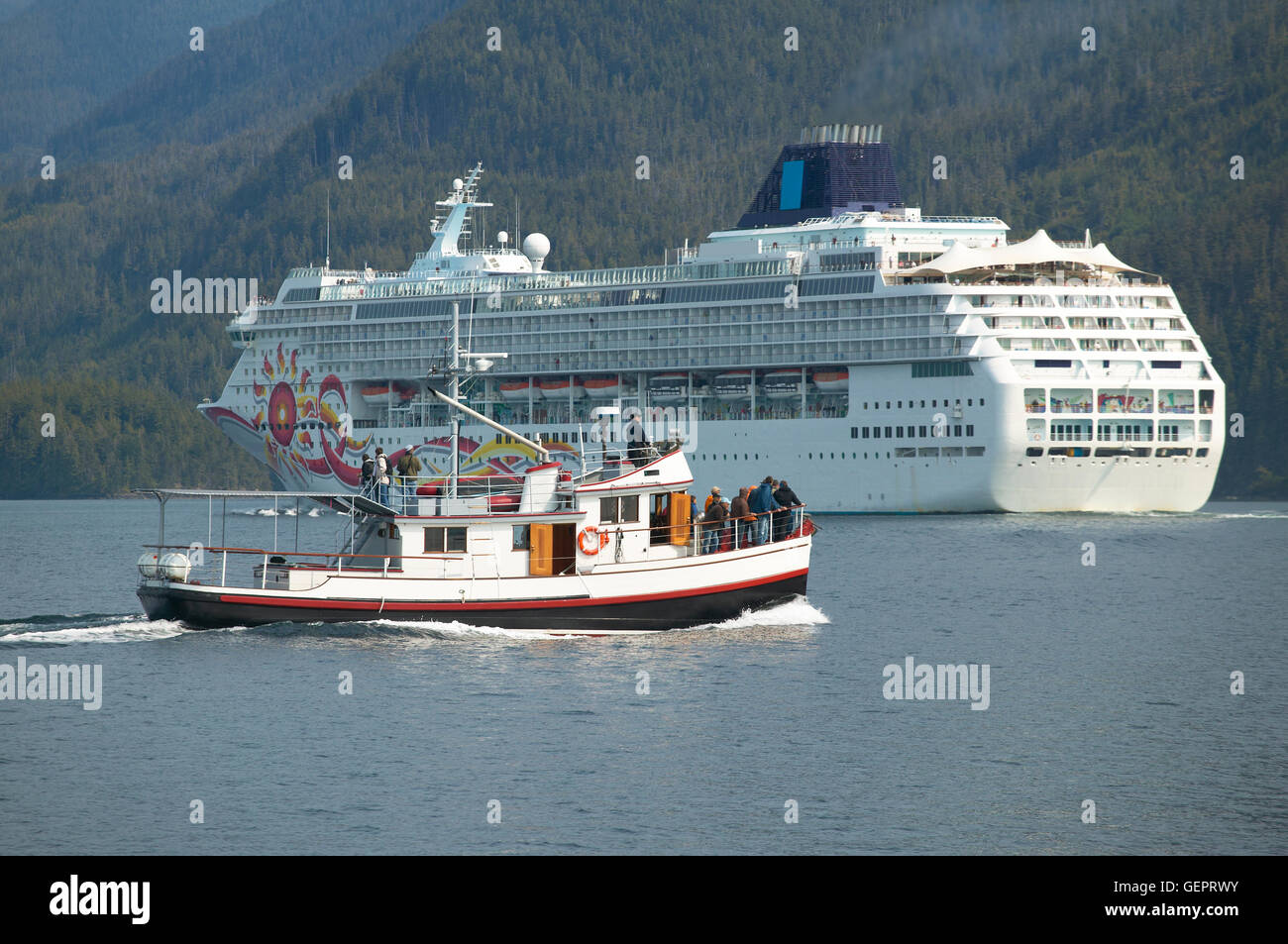 Canadian Cruise Vessel In Johnstone Strait Vancouver British - Canadian cruise