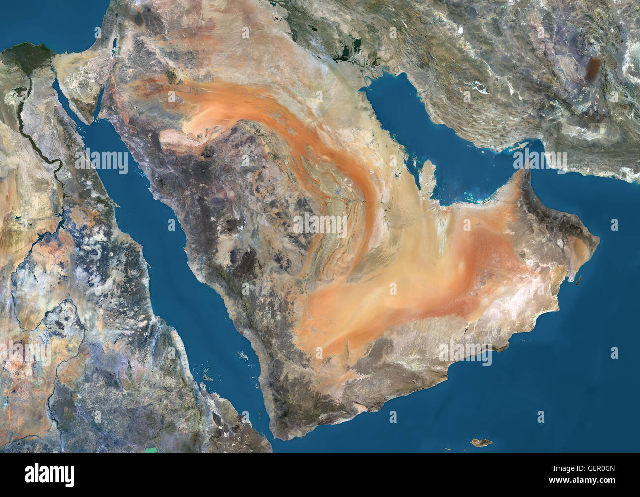 Satellite View Of The Arabian Peninsula This Image Was Compiled - World satellite map 2014