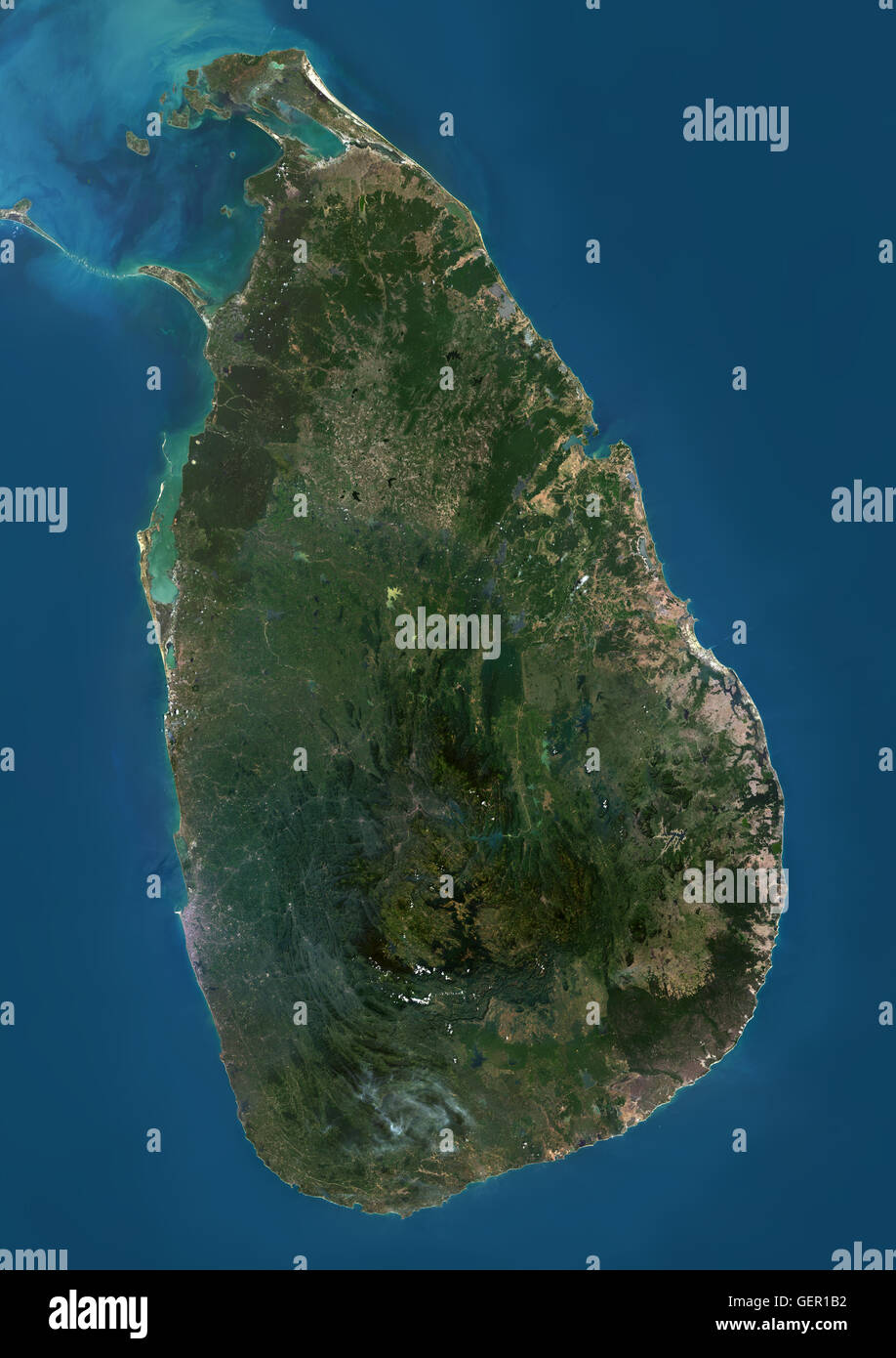 Satellite view of Sri Lanka This image was compiled from data