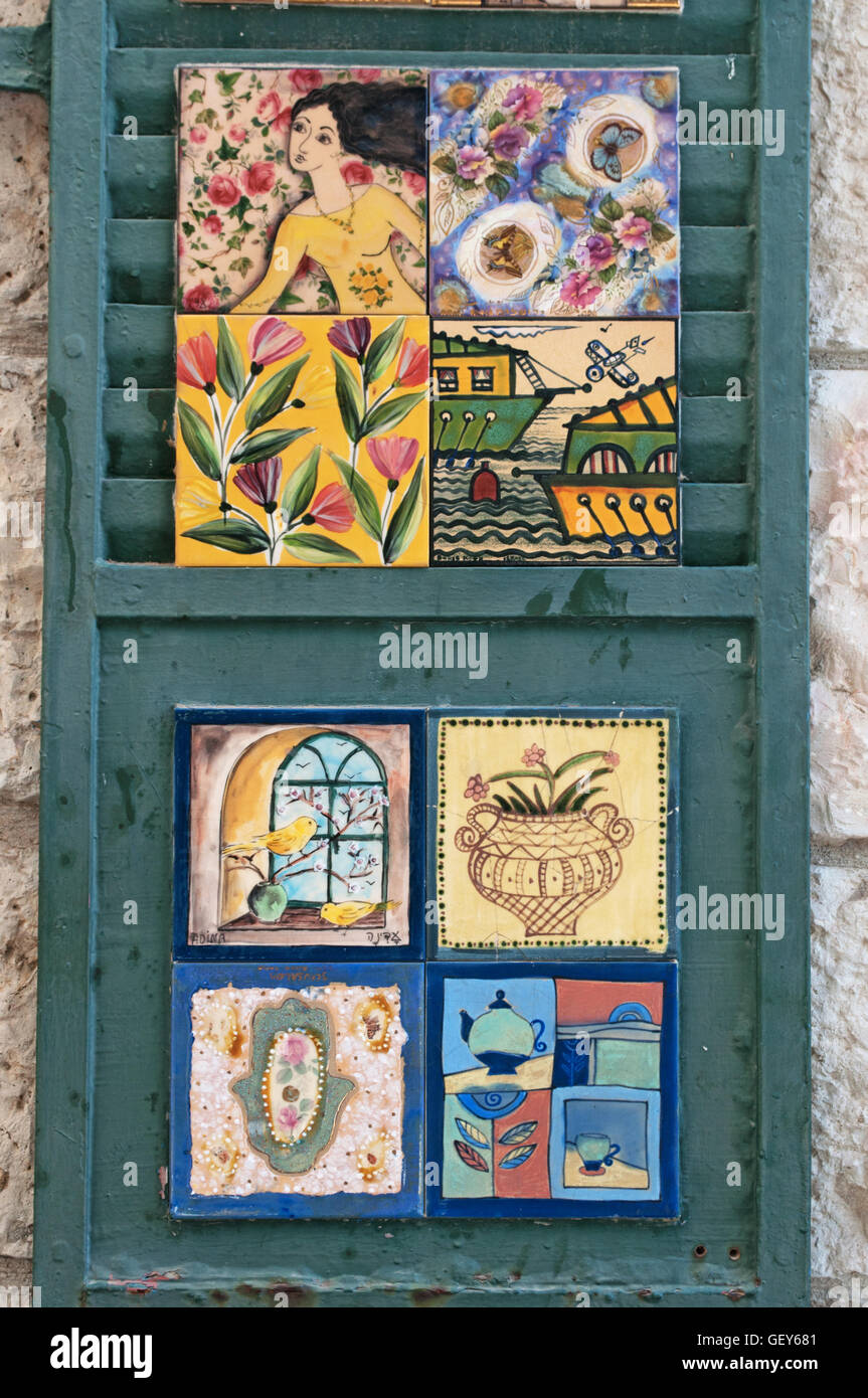 Israel window blinds decorated with ceramic tile in the streets israel window blinds decorated with ceramic tile in the streets of jerusalem dailygadgetfo Gallery