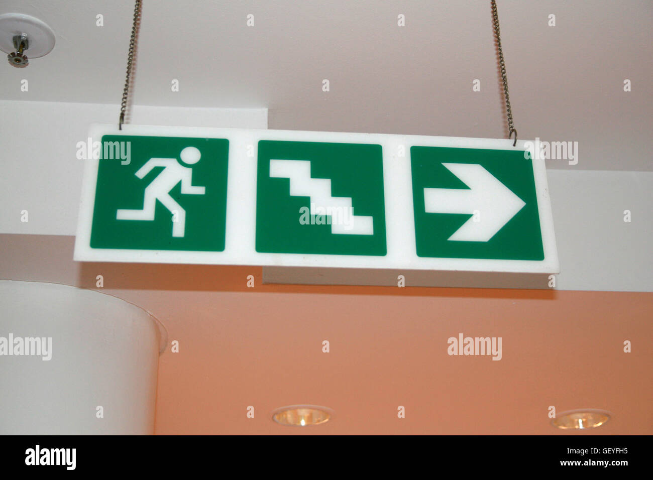 Emergency exit sign museum africa johannesburg south africa stock emergency exit sign museum africa johannesburg south africa buycottarizona Images