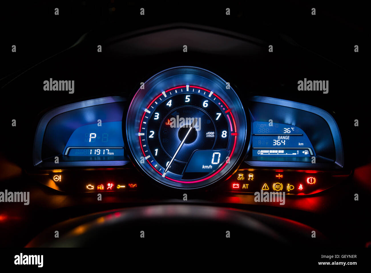 Modern Car Instrument Dashboard Panel Or Speedometer And Full - Car image sign of dashboardcar dashboard icons stock photospictures royalty free car