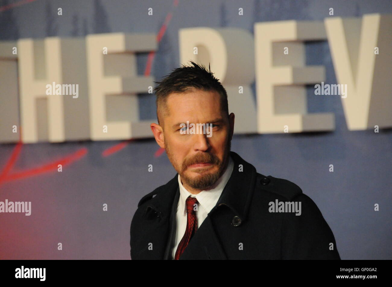 The actor Tom Hardy, at the London film premiere of the ...