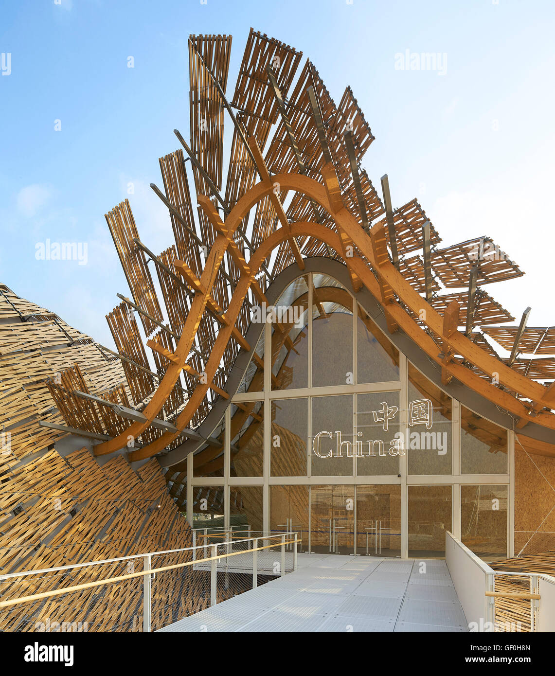 roof terrace with bamboo panel canopy milan expo 2015 china pavilion milan - Bamboo Canopy 2015