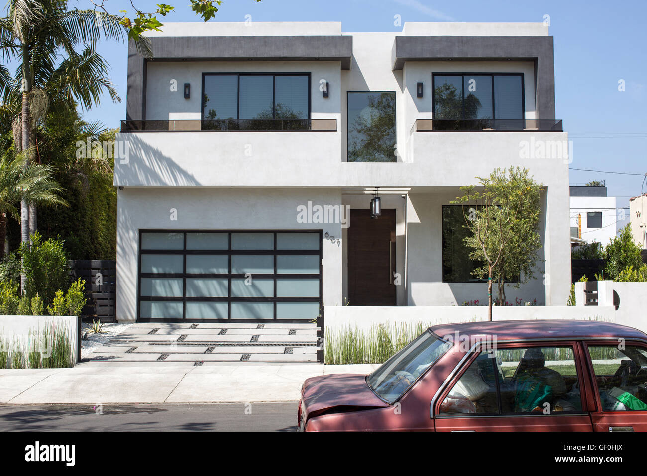 Pictures of the new designer box homes in Los Angeles which are replacing  traditional Spanish style homes