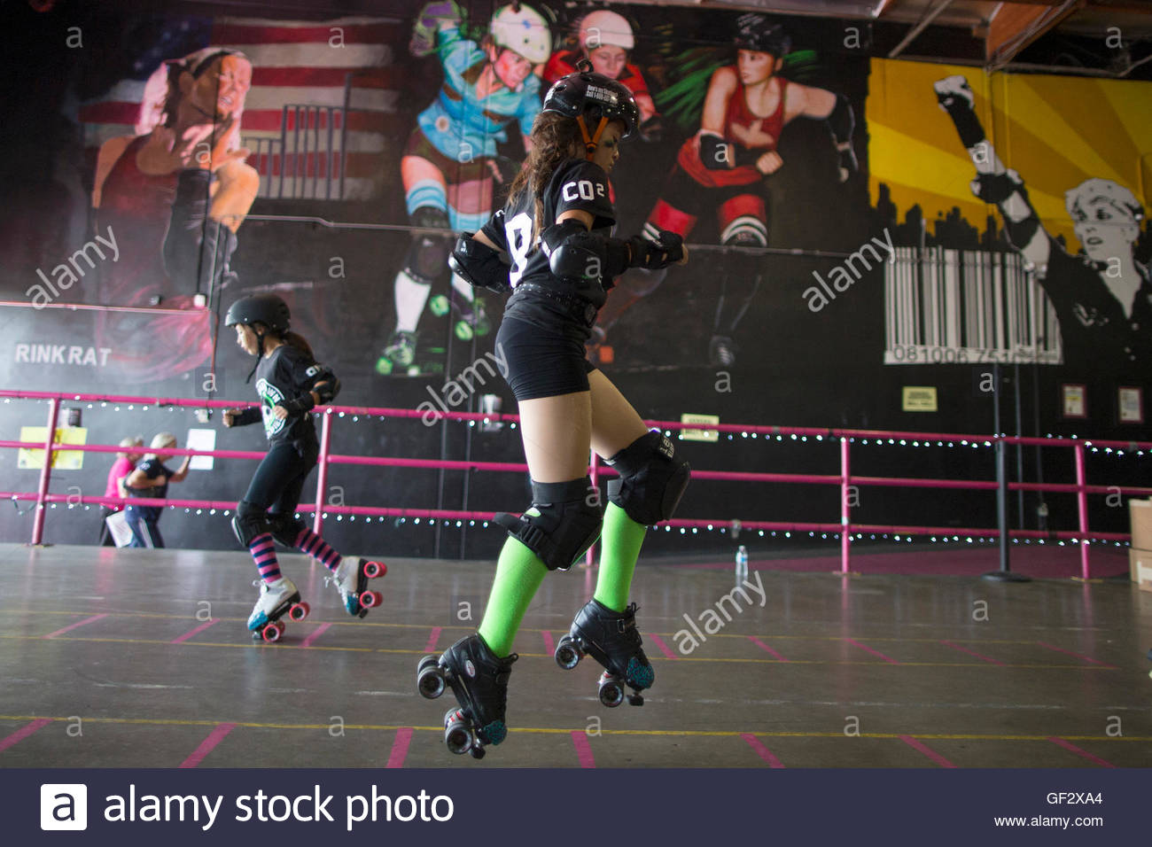 Roller skating babies - Sierra Olea 12 Of The Sugartown Sugar Babies From Oxnard Warms Up At The National Championship For Banked Track Roller Derby In Los Angeles California