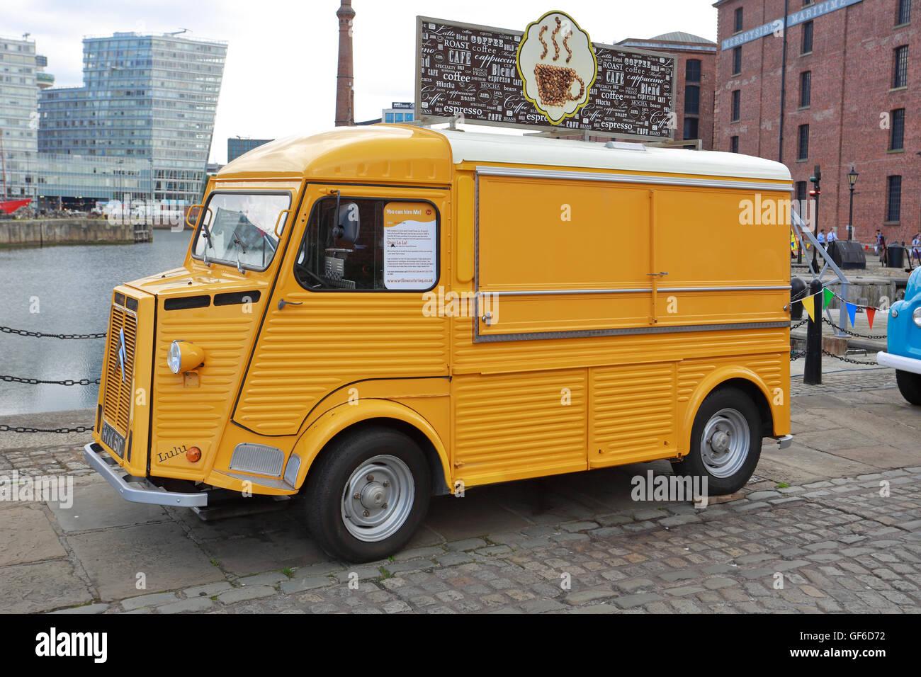 1965 Citroen HY Van Converted Mobile Coffee Station Albert Dock Liverpool Merseyside