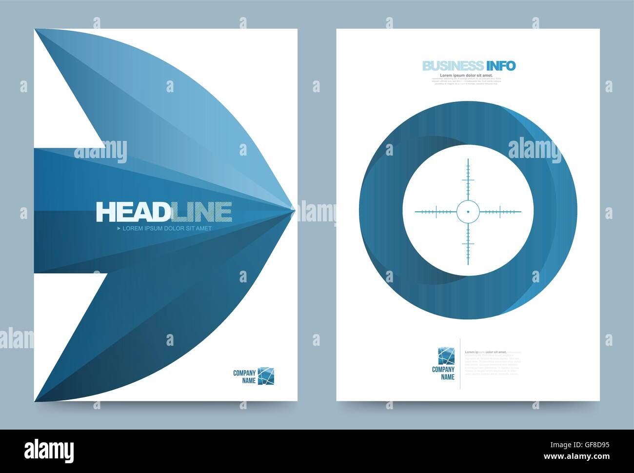 blue annual report brochure flyer design template vector arrow blue annual report brochure flyer design template vector arrow target style leaflet cover presentation abstract