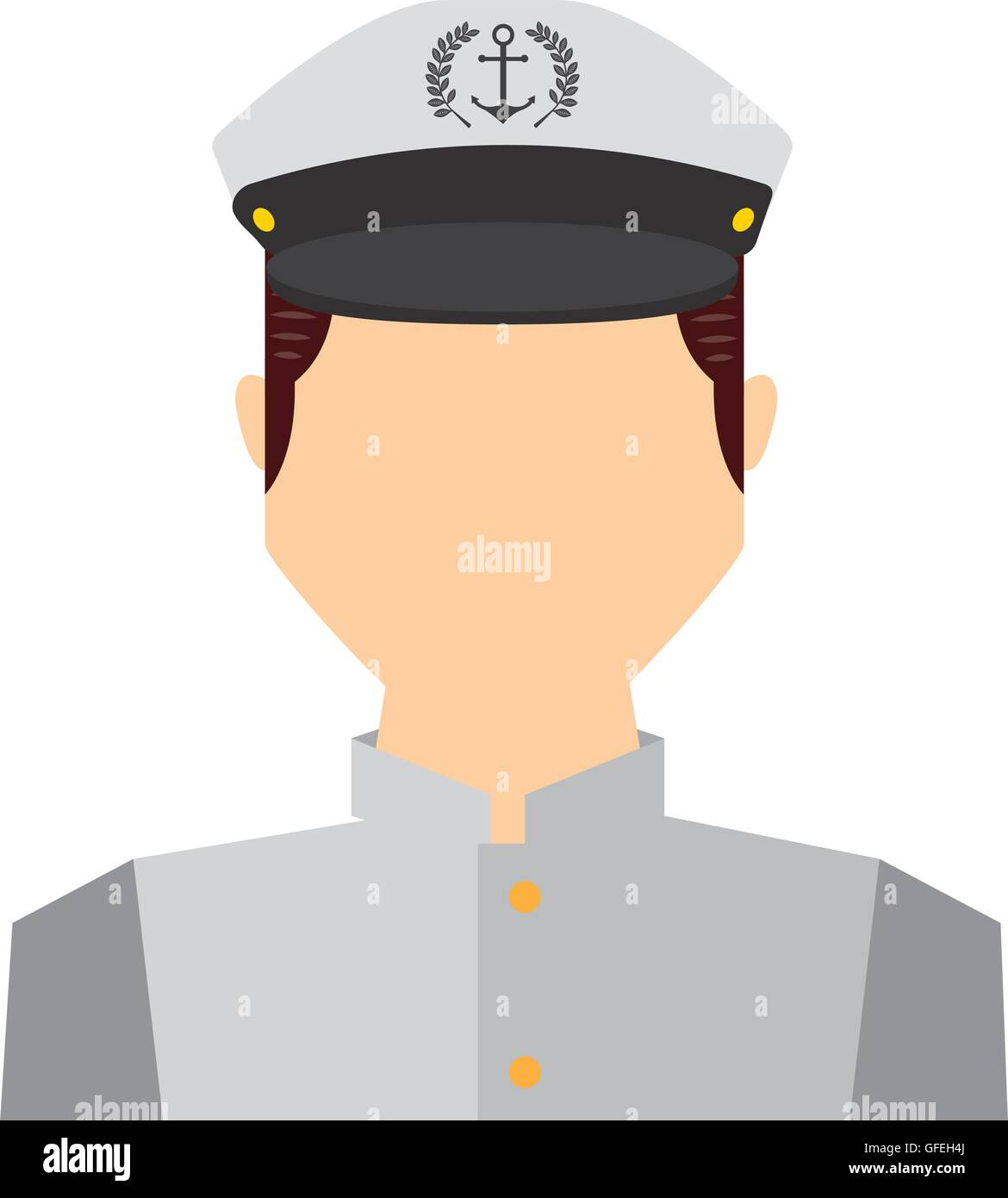 Sailor stock photos illustrations and vector art - Stock Vector Captain Sailor Man Icon