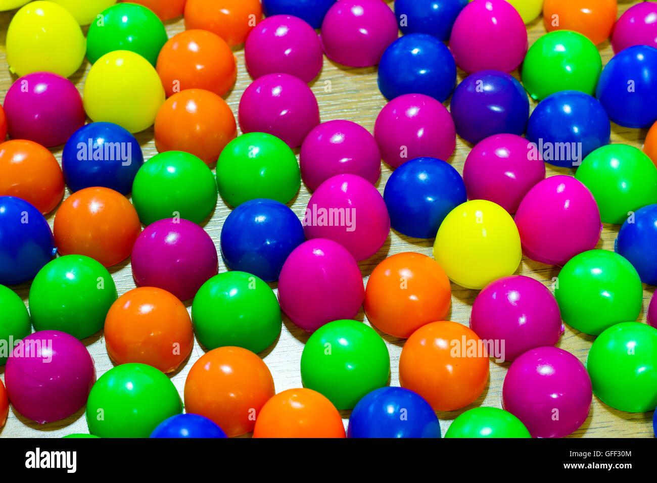 Plastic Easter Eggs Multicolor Background