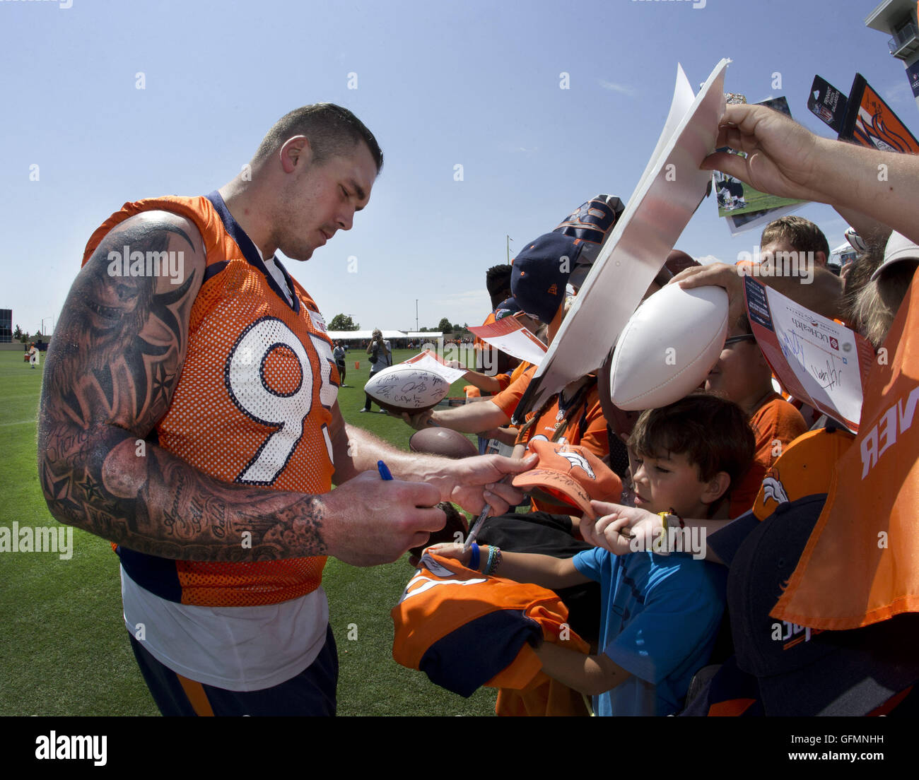 Englewood Colorado USA 31st July 2016 Denver Broncos DE DEREK