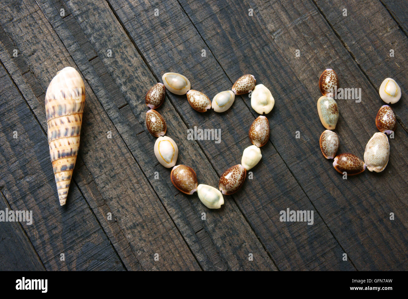 I love you message by shell on wooden background heart shape i love you message by shell on wooden background heart shape symbol of love with simplicity idea for valentine day mother da biocorpaavc