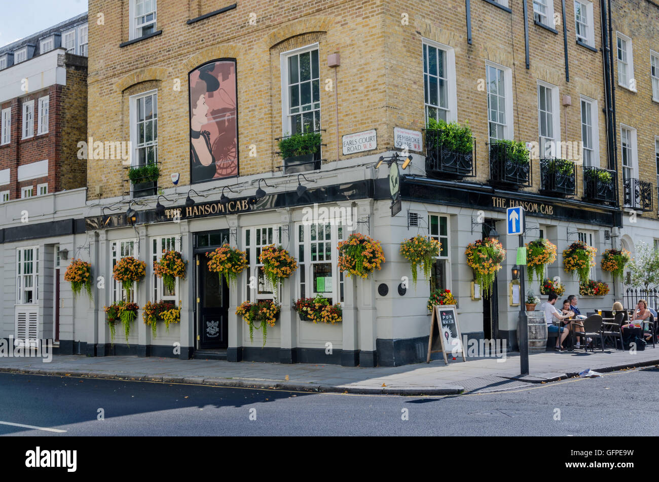 the hansom cab pub in earl 39 s court london stock photo. Black Bedroom Furniture Sets. Home Design Ideas