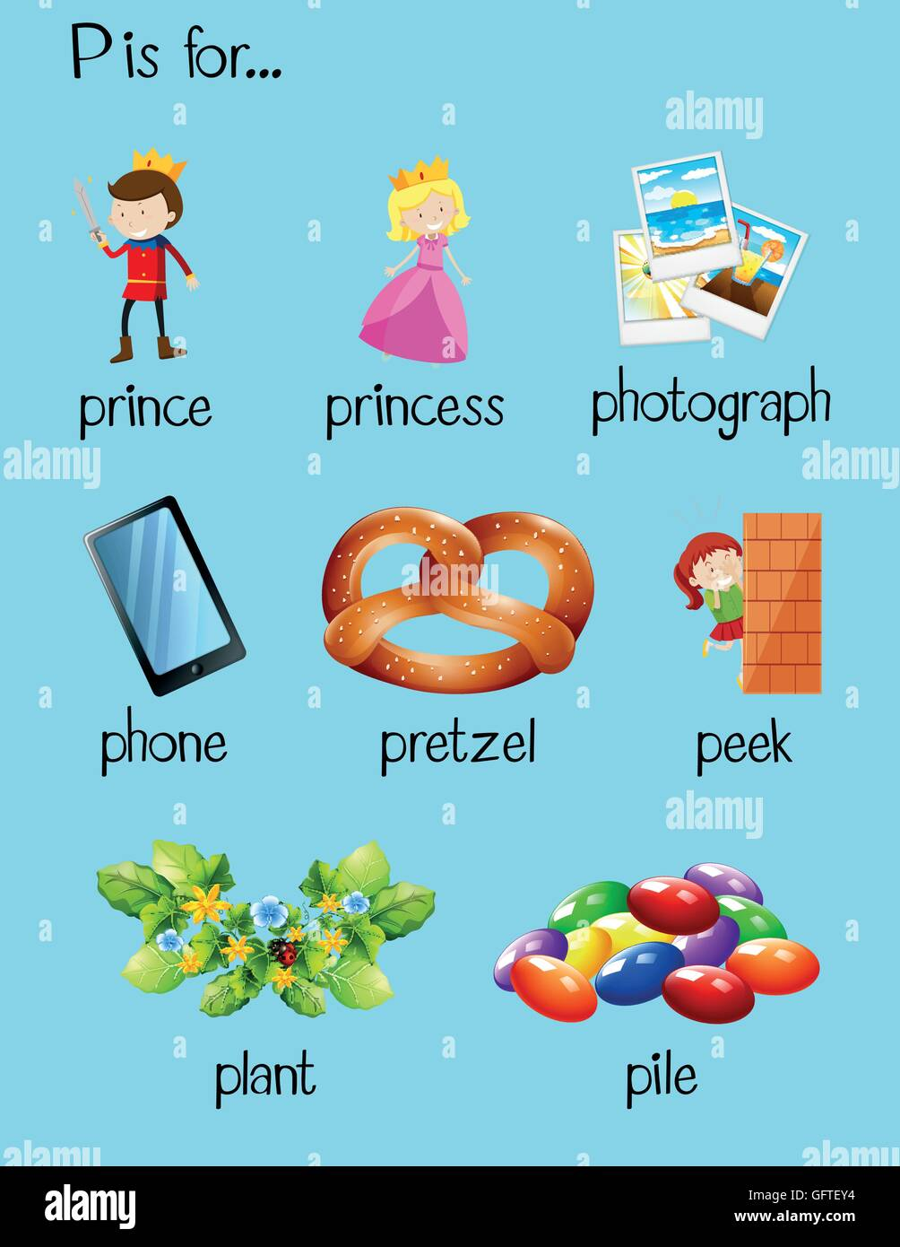 Stock Photo Many Words Begin With Letter P Illustration 113020632 on Things That Start With Letter H
