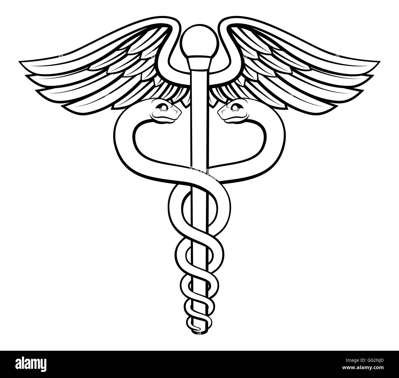 An illustration of the caduceus symbol of two snakes intertwined an illustration of the caduceus symbol of two snakes intertwined around a winged rod associated with healing and medicine buycottarizona