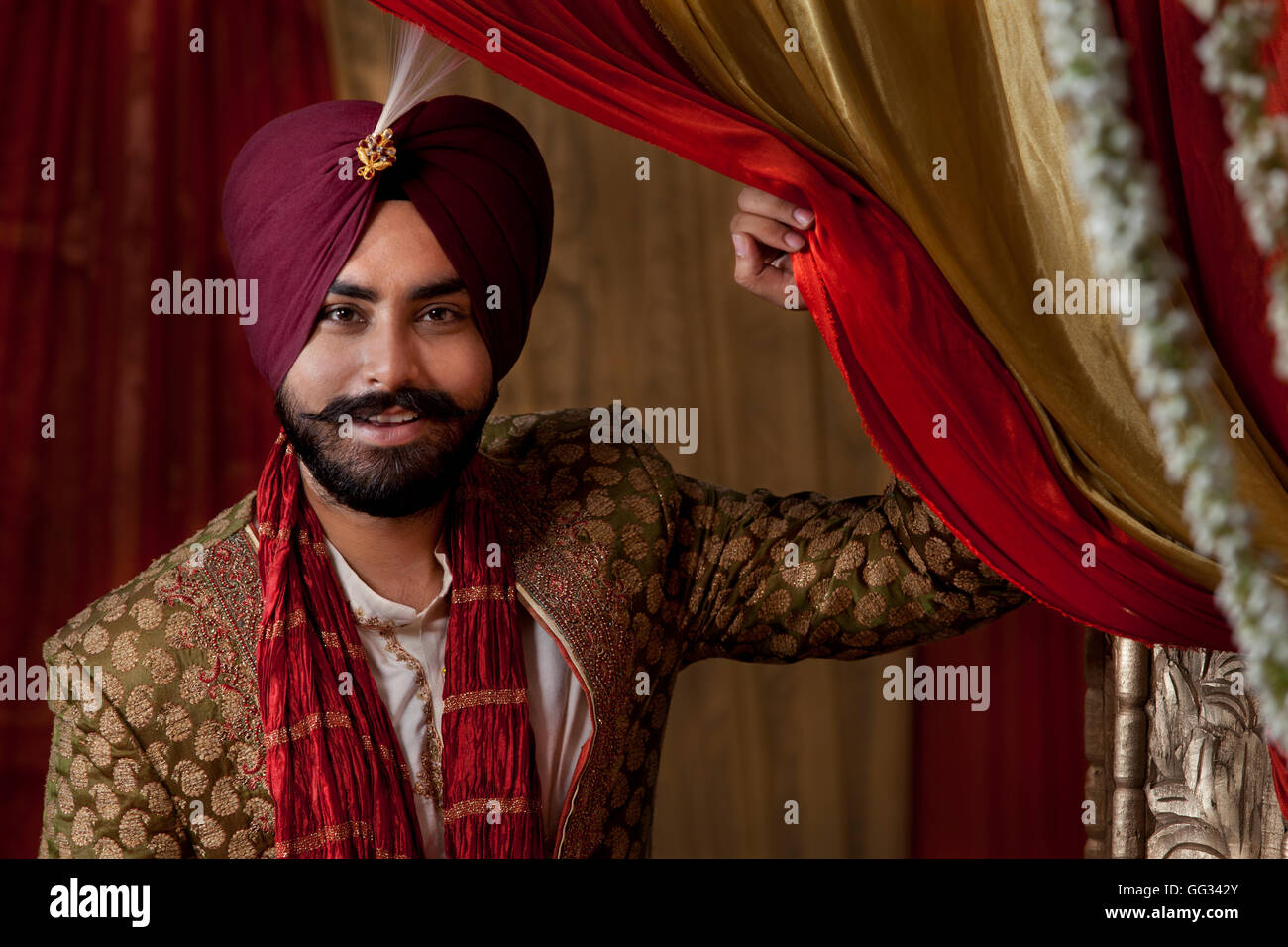 Magnificent Groom At A Traditional Sikh Wedding Stock Photo Royalty Free Hairstyles For Men Maxibearus
