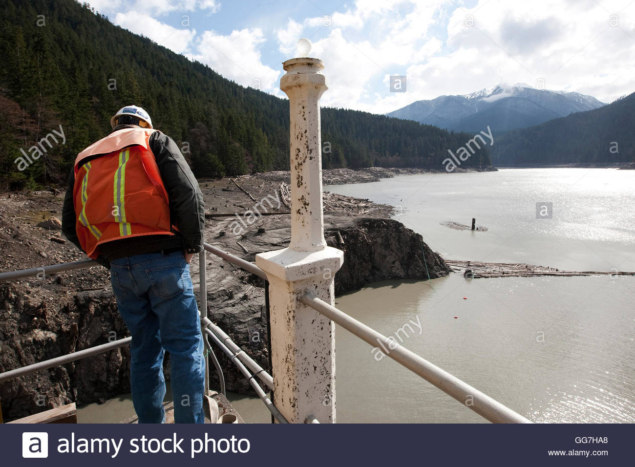 Doug Noyes, Inspector With Urs Corp., Looks Down From The Top Of ...