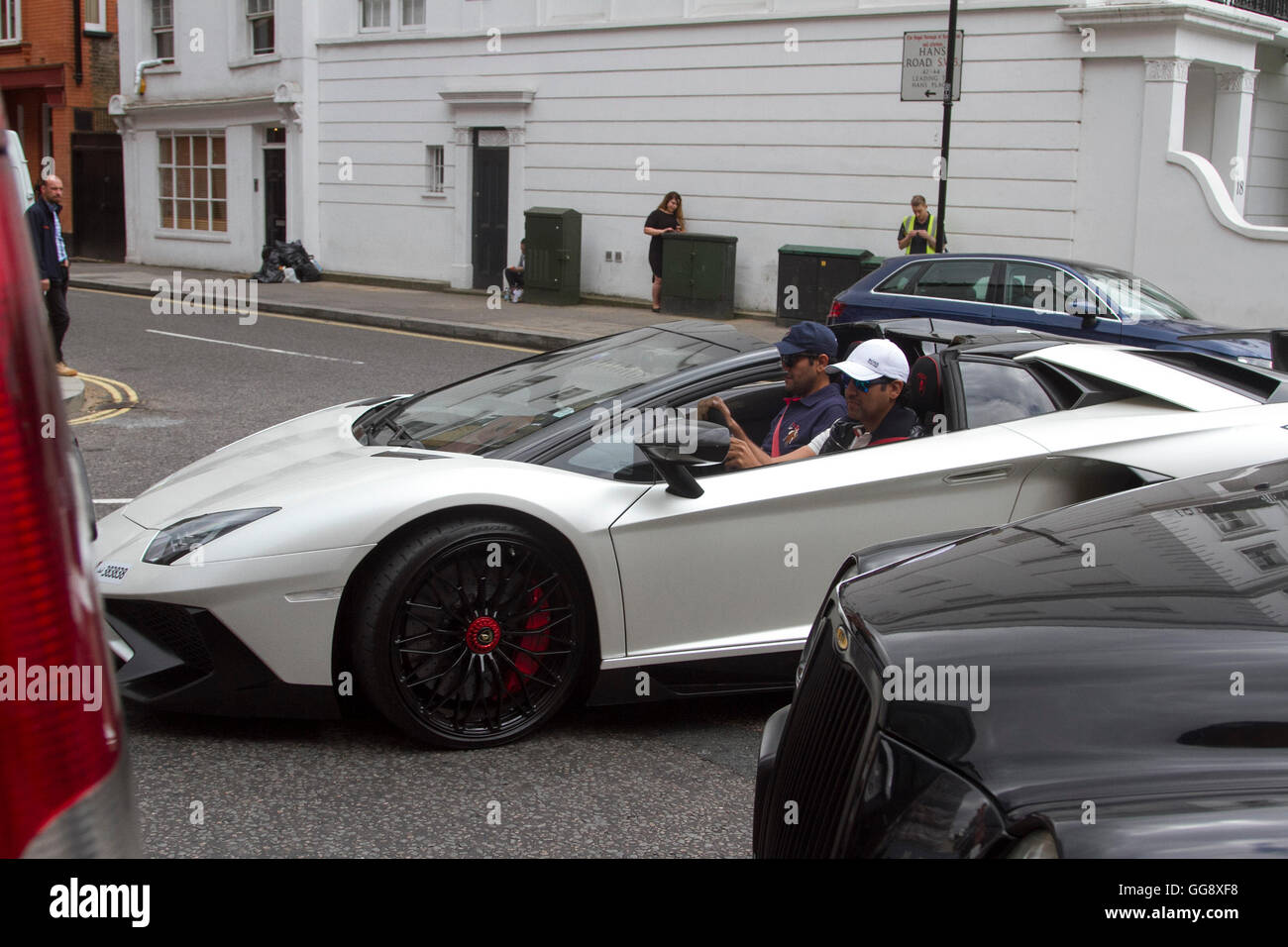 London Uk Aug A Lamborghini Aventador Supercar With
