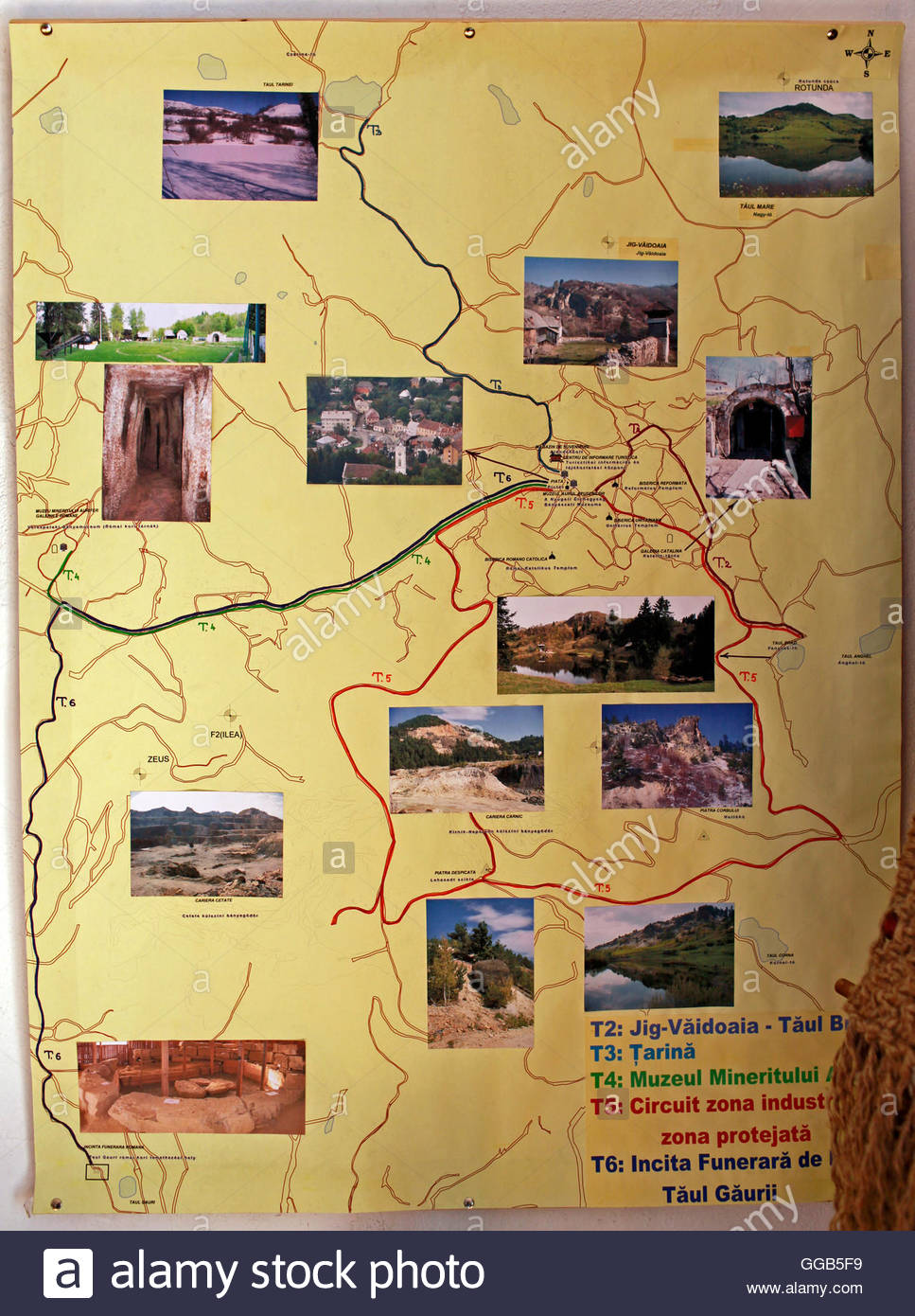 A Map Showing Tourist Attractions Around Rosia Montana Village – Montana Tourist Attractions Map
