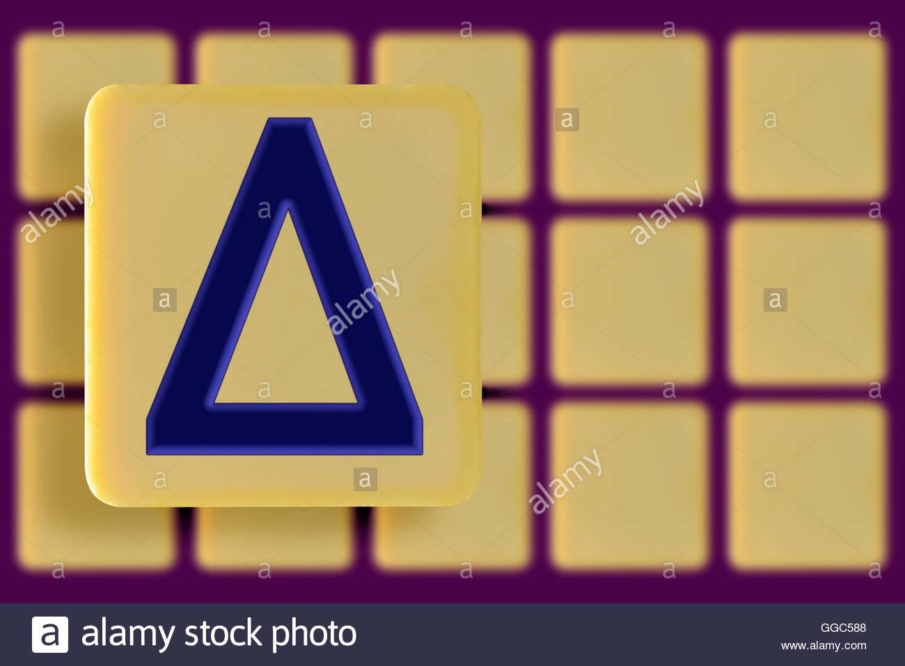 Delta symbol on an alphabet tile dorset england britain uk delta symbol on an alphabet tile dorset england britain uk biocorpaavc Choice Image